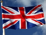 The British flag waving in the wind Shutterstock 115949722