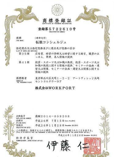 『転職コンシェルジュ』 商標登録取得のお知らせ