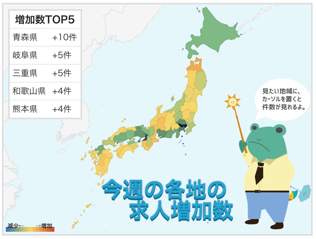 【都道府県別】7月3週の求人掲載件数速報