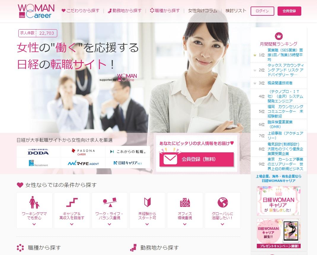 女性の転職サイト「日経WOMANキャリア」オープン