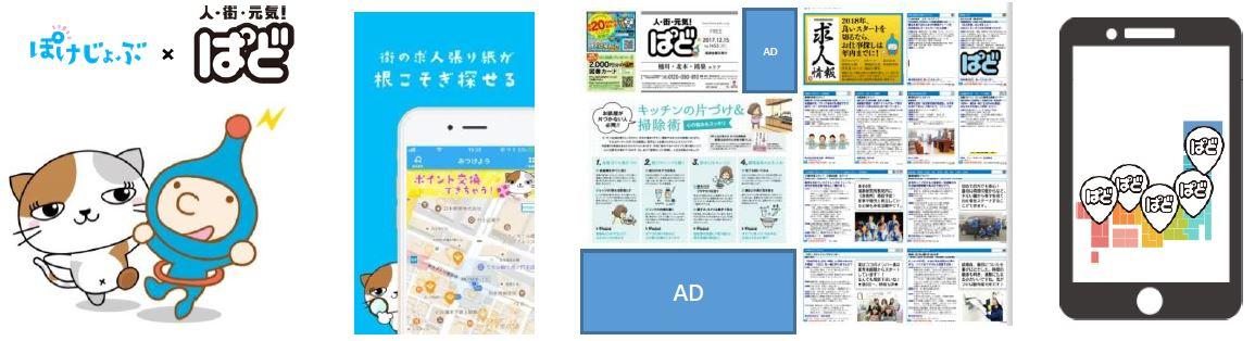 地域情報誌「ぱど」×新感覚求人アプリ「ぽけじょぶ」情報連携開始。2017年12月21日より「ぱど」掲載の地元求人情報をさらに多くの求職者へお届けします