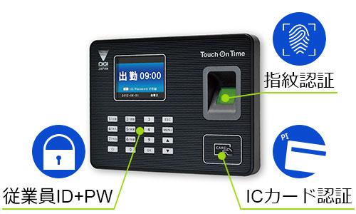 誰でも簡単に使える勤怠管理システム用タイムレコーダー「タッチオンタイムレコーダーアンド」9月1日より発売開始!