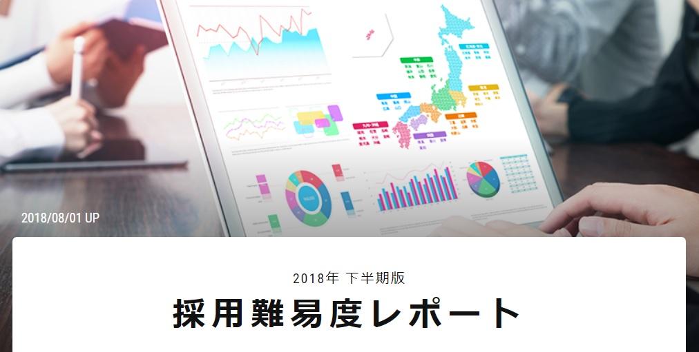 2018年 下半期版 採用難易度レポート