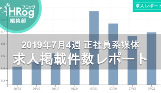 【2019年7月4週 正社員系媒体 求人掲載件数レポート】求人件数は微増。