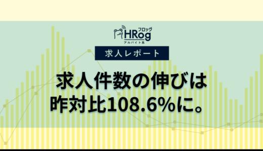 【2019年8月3週 アルバイト系媒体 求人掲載件数レポート】求人件数の伸びは昨対比108.6%に。