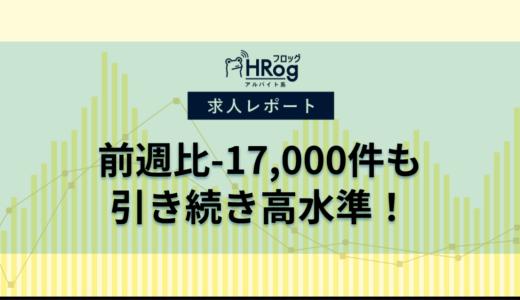 【2019年10月第4週 アルバイト系媒体 求人掲載件数レポート】前週比-17,000件も引き続き高水準!