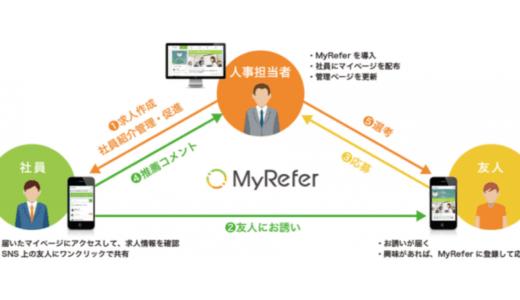 リファラル採用活性化プラットフォーム「MyRefer」が従業員エンゲージメント向上のための新機能を提供開始