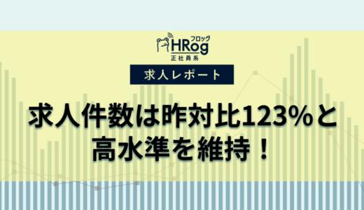 【2020年1月第2週 正社員系媒体 求人掲載件数レポート】求人件数は昨対比123%と高水準を維持!