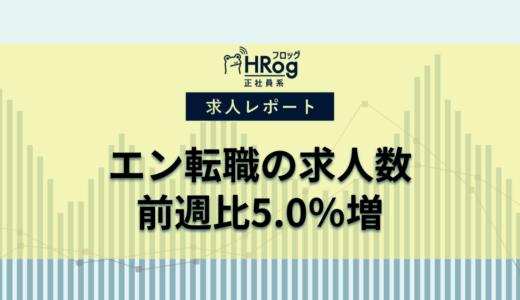 【2020年6月第2週 正社員系媒体 求人掲載件数レポート】エン転職が前週比5.0%増