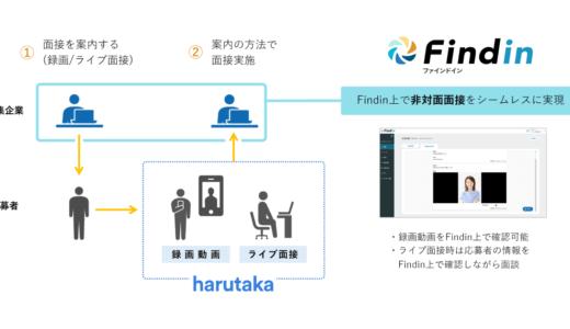DXリクルーティングサービス「Findin」がWEB面接サービス「harutaka」と連携開始