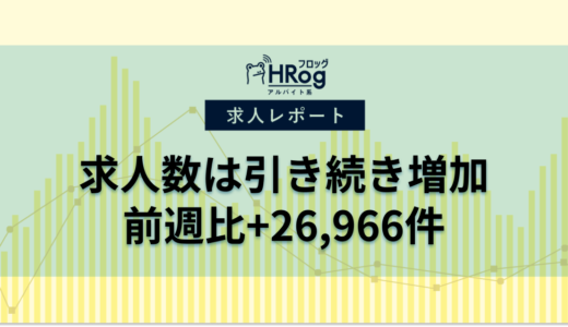 【2020年7月第2週 アルバイト系媒体 求人掲載件数レポート】求人数は引き続き増加、前週比+26,966件