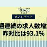 【2021年1月第1週 正社員系媒体 求人掲載件数レポート】8週連続の求人数増加、昨対比は93.1%