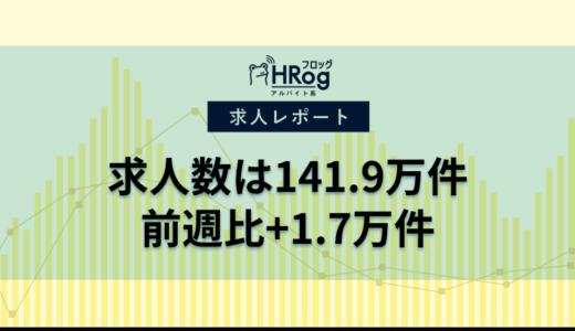 【2021年2月第3週 アルバイト系媒体 求人掲載件数レポート】求人数は141.9万件、前週比+1.7万件