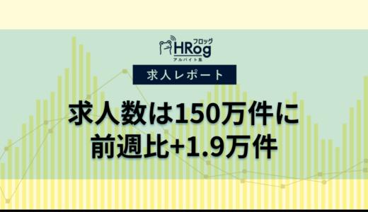 【2021年3月第2週 アルバイト系媒体 求人掲載件数レポート】求人数は150万件に、前週比+1.9万件
