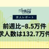 【2021年5月第1週 アルバイト系媒体 求人掲載件数レポート】前週比−8.5万件、求人数は132.7万件