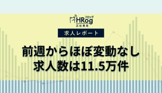 【2021年6月第1週 正社員系媒体 求人掲載件数レポート】前週比ほぼ横ばい、求人数は11.5万件
