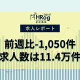 【2021年6月第2週 正社員系媒体 求人掲載件数レポート】前週比-1,050件、求人数は11.4万件