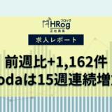 【2021年9月第4週 正社員系媒体 求人掲載件数レポート】前週比+1,162件、dodaは15週連続増加